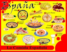 Spanish food culture clipart.