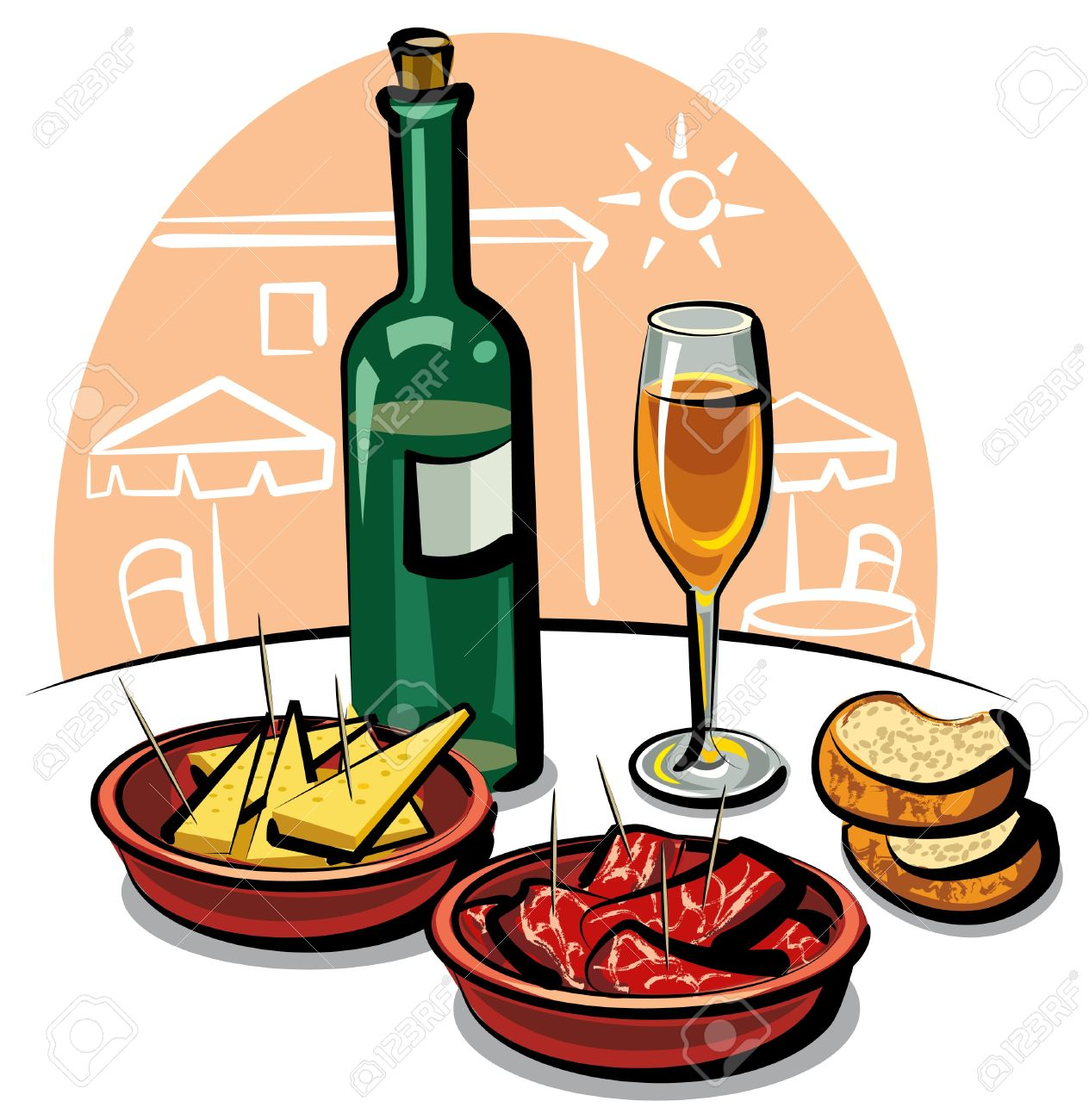 Spanish food images clipart.