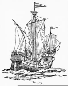 Clipart Spanish Ship.