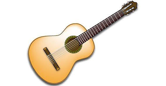 Spanish Guitar Vector.