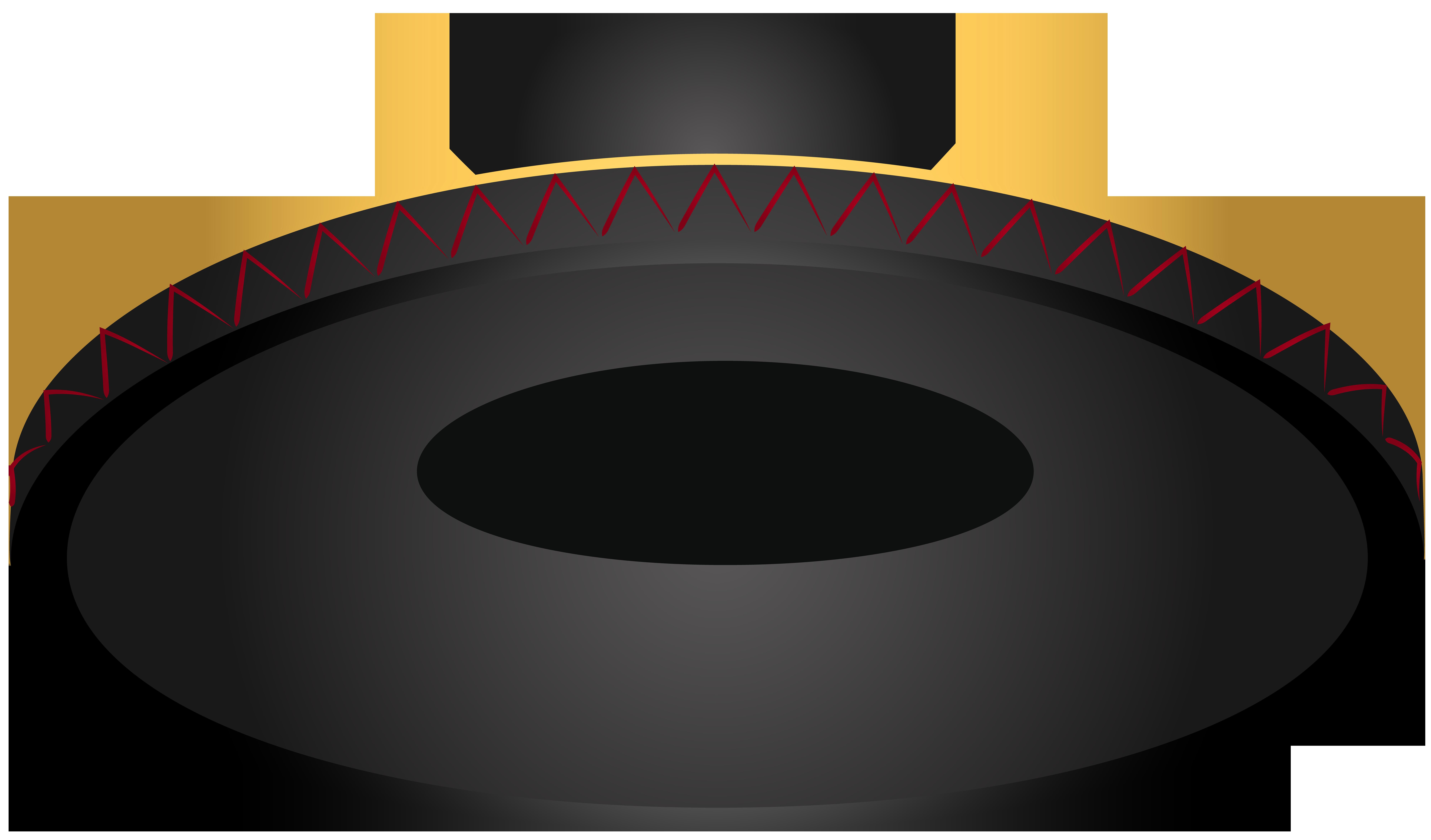 Black Spanish Hat PNG Clip Art Image.