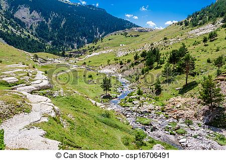 Stock Photographs of Beautifil landscape with mountain river in.
