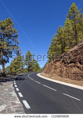 Mountain Winding Road Leading Village Masca Stock Photo 112527461.