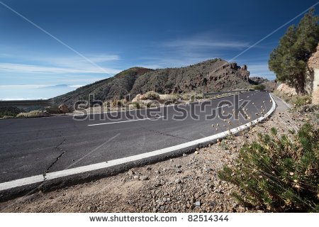 Mountain Road Stock Images, Royalty.