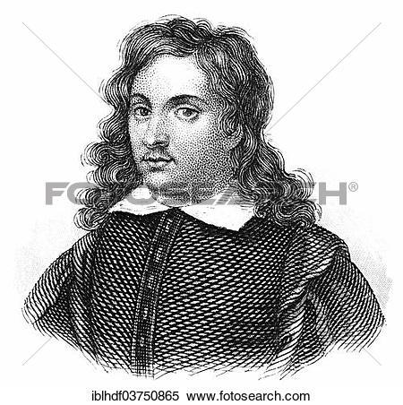 Stock Image of Portrait of Bartolome Esteban Murillo, 1618.