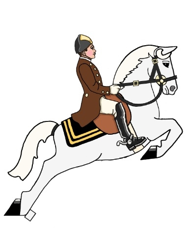 Design for a rocking toy. Spanish Riding School of Vienna.