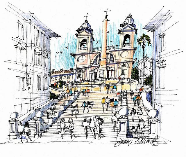 Urban sketchers Italie (1).