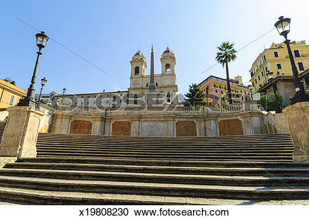 Stock Photography of Spanish Steps, Rome Italy. x19808230.