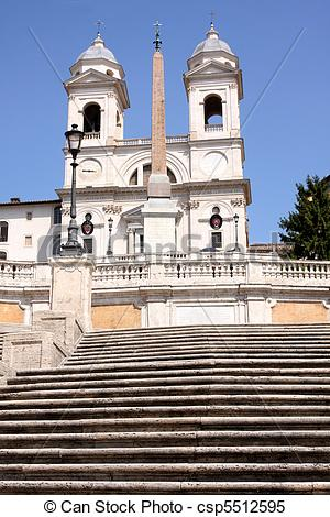 Stock Images of Spanish Steps in Rome Italy.