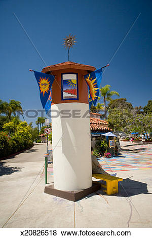 Pictures of Entrance to the Spanish Village Art Center, Balboa.
