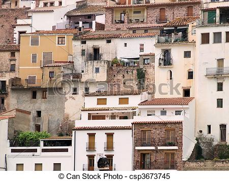 Stock Images of Spain, old buildings.
