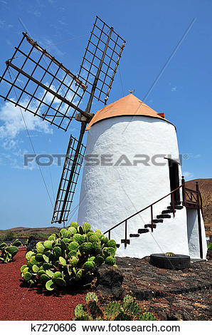Stock Images of Spanish flour mill k7270606.