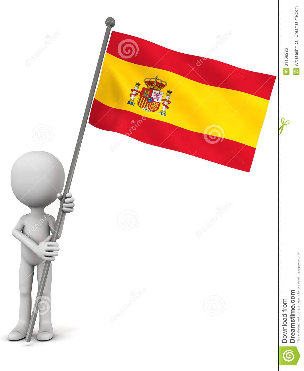 Spain Flag Royalty Free Stock Image.