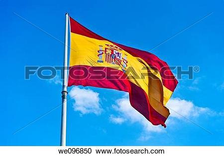 Stock Photography of Spanish flag we096850.