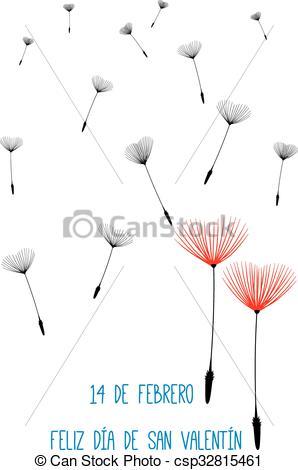 Clip Art Vector of spanish valentine background.