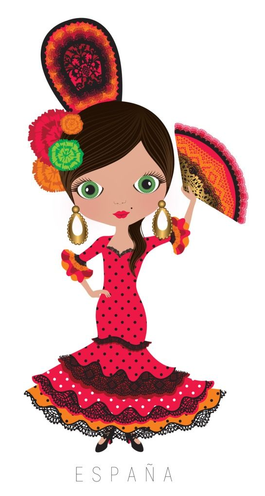 Spanish Woman Clipart.