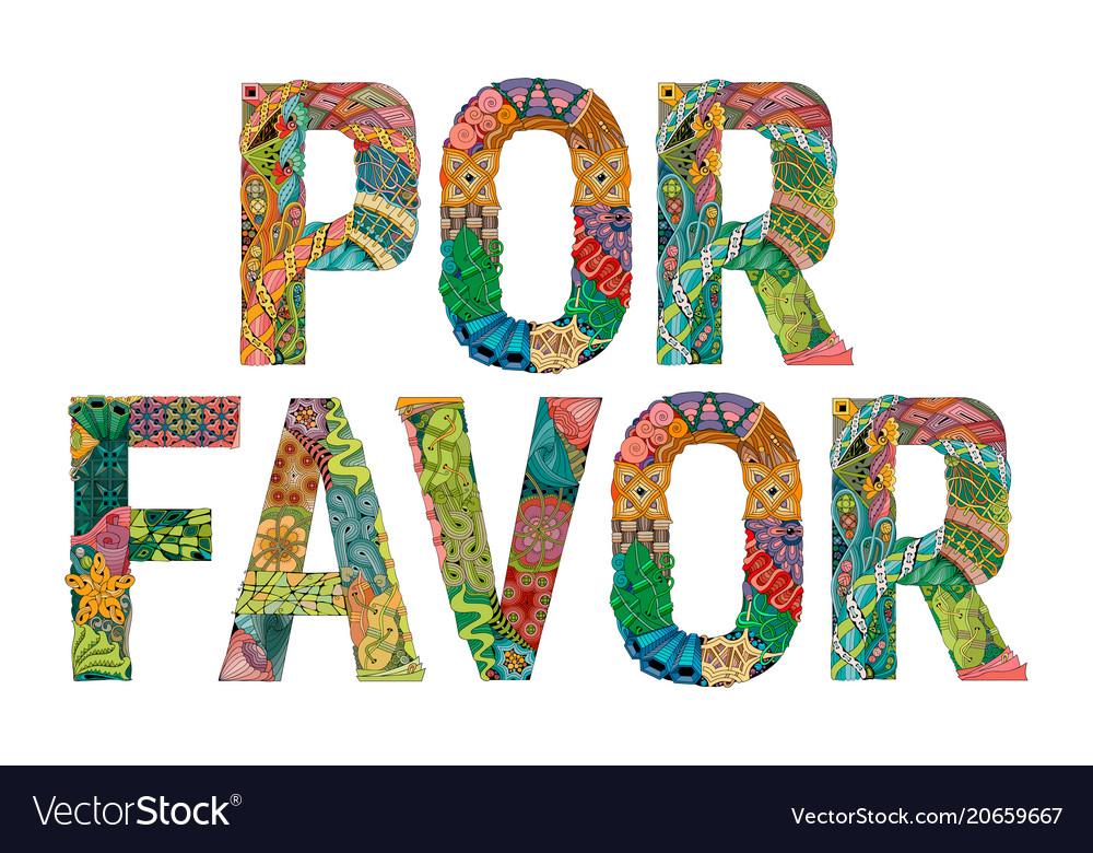 Words por favor please in spanish.