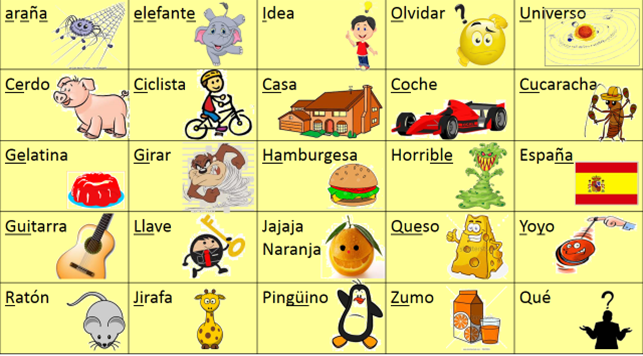 Spanish Words Cliparts 12.