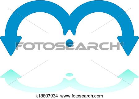 Clipart of Spanning Arrows k18807934.