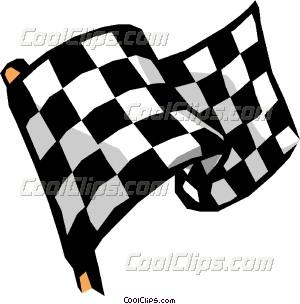 Cartoon Racecar Driver Vector Clip.