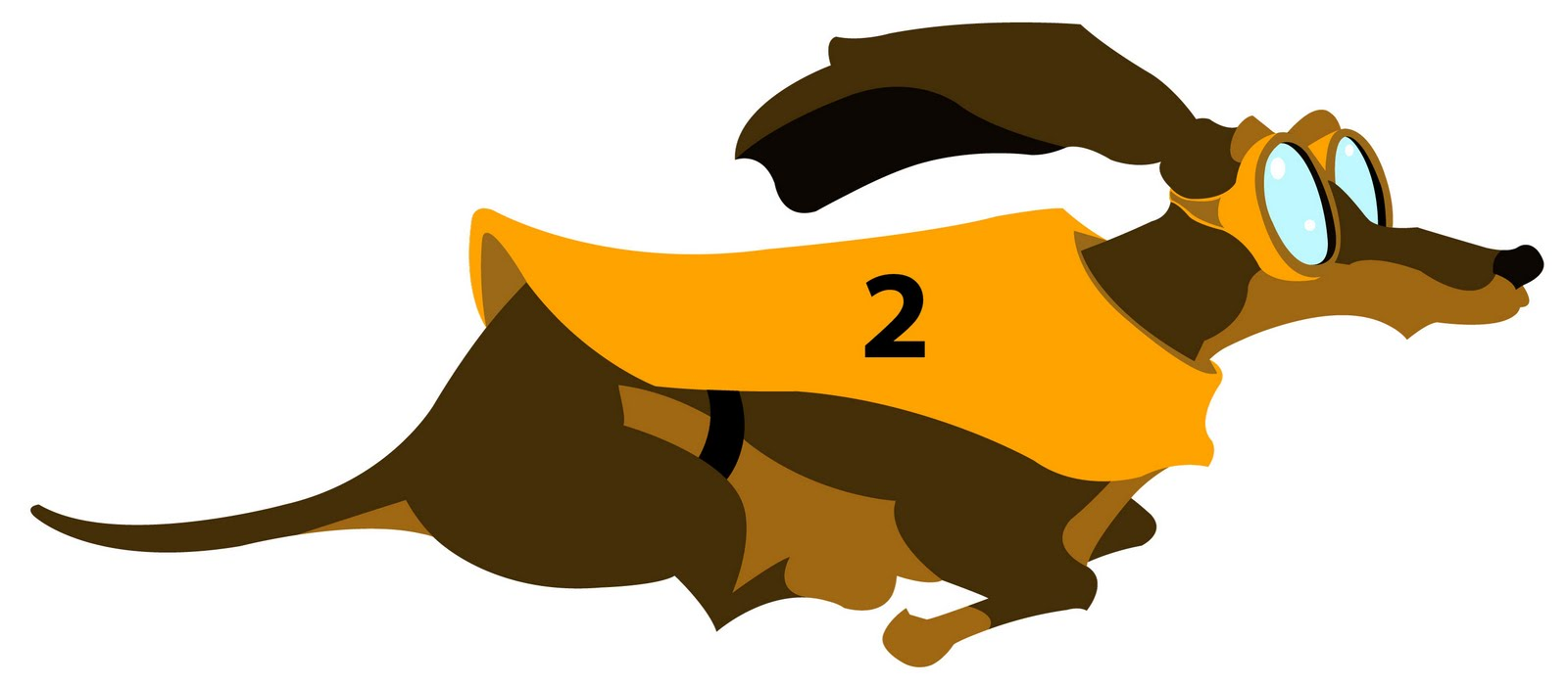 Long weiner dog clipart.