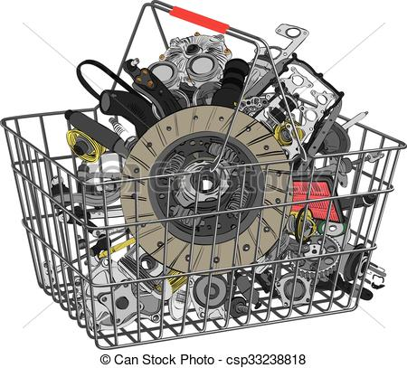 Vector Clip Art of Many images of spare parts.