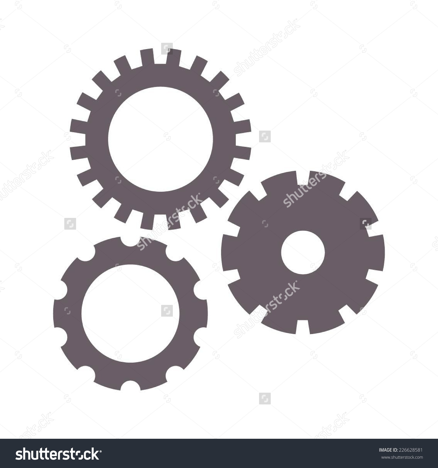 Vector Illustration Spare Parts Bushings Gears Stock Vector.
