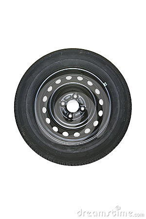 Spare Tire Stock Photo.