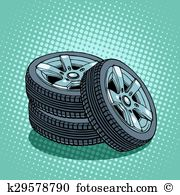 Spare wheel Clip Art and Illustration. 770 spare wheel clipart.