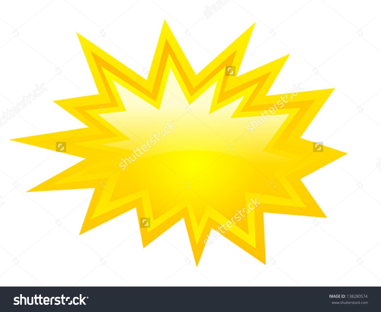 Spark icon clipart.