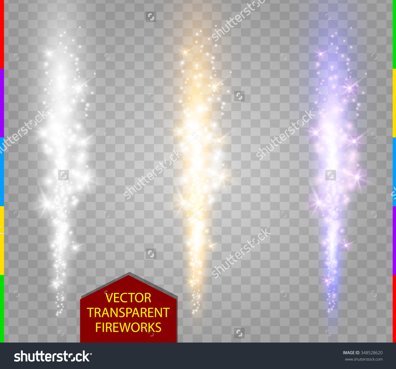 Abstract Firework Set Vector Fountain Sparks Stock Vector.