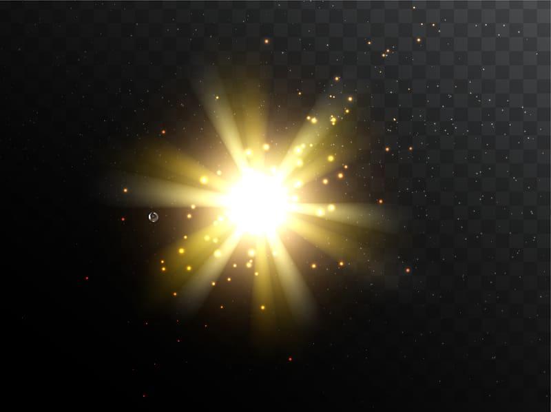 Yellow light , Light Euclidean 2018 Chevrolet Spark.
