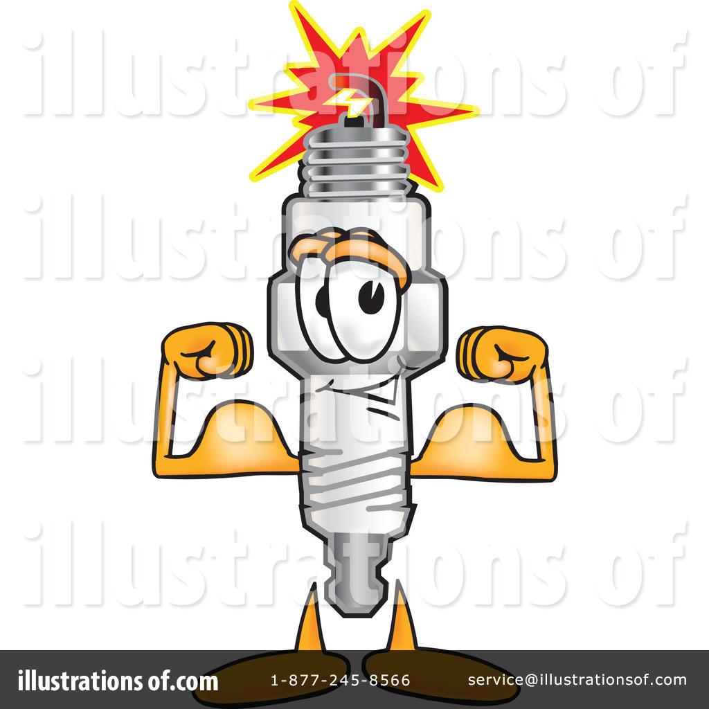 Spark Plug Character Clipart #16881.