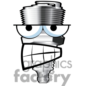New school spark plug clipart.