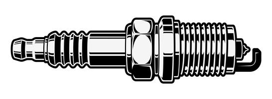 Spark Plug Free Vector Art.