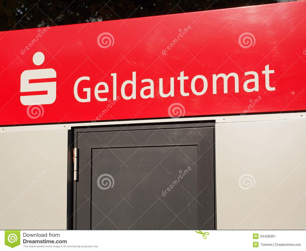 Sparkasse Geldautomat Editorial Photo.