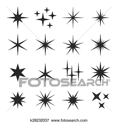 Sparkle clipart black and white 4 » Clipart Station.