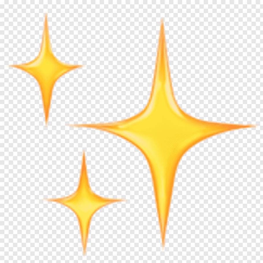 Three yellow stars art illustration, Emojipedia Sticker.