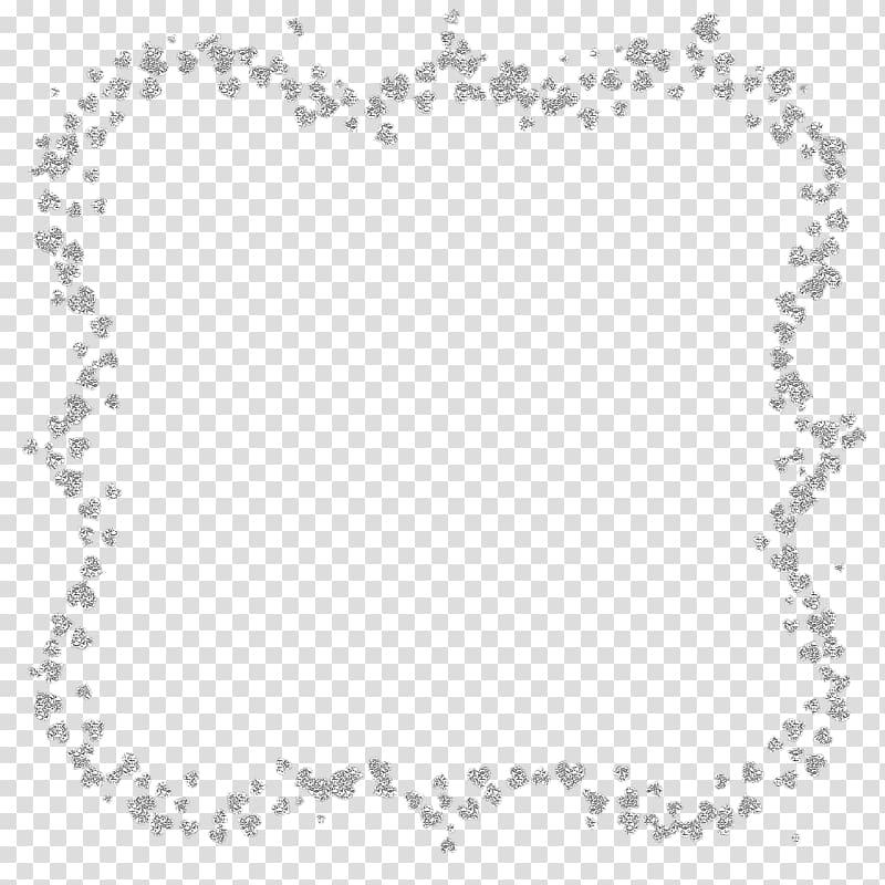 Glitter frame transparent background PNG clipart.
