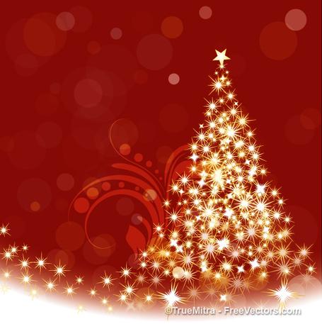 Sparkle christmas tree clipart.