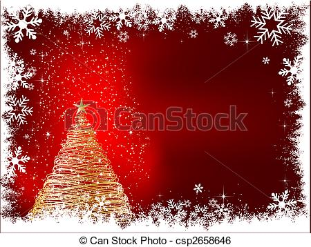 Clip Art Vector of sparkle christmas tree.
