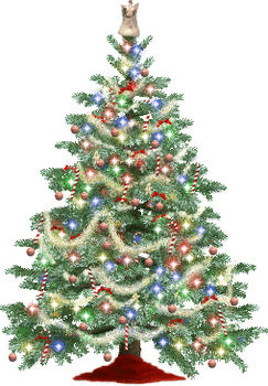 Sparkling christmas tree clipart.