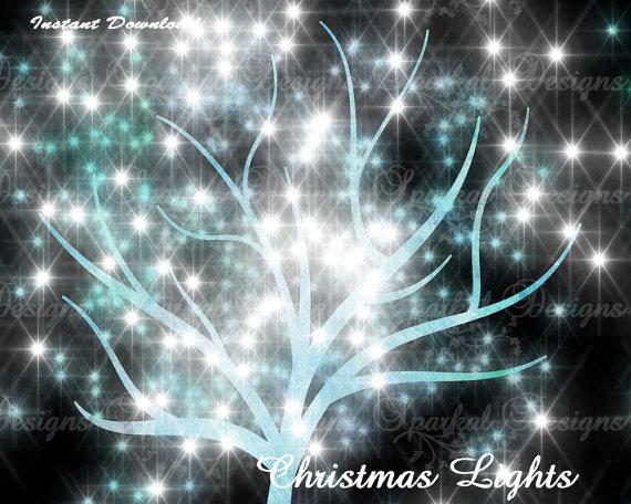 TREE Clipart, Tree LIGHTS Clipart, Burst of Light, Sparkle Lights.