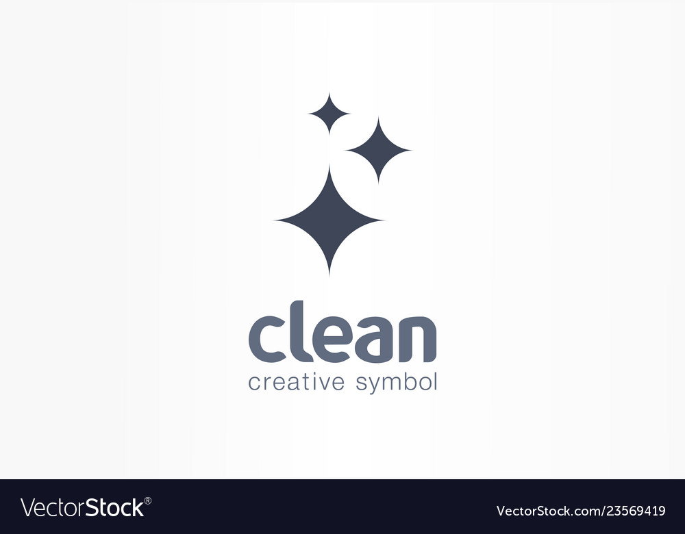 Sparkle star fresh creative symbol concept.