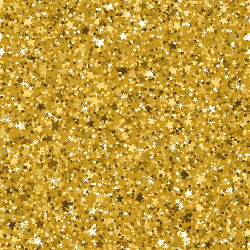 Seamless yellow gold glitter texture made with tiny stars.