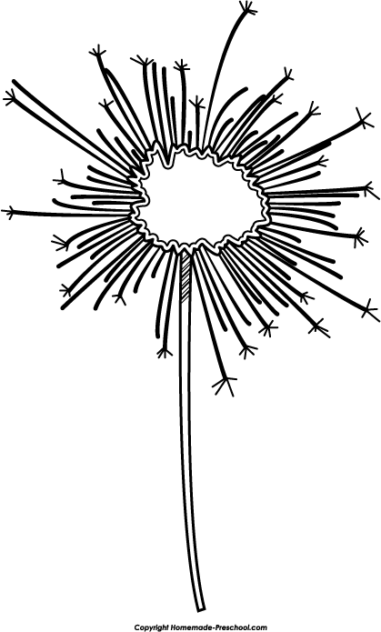 Sparkler clipart black and white.