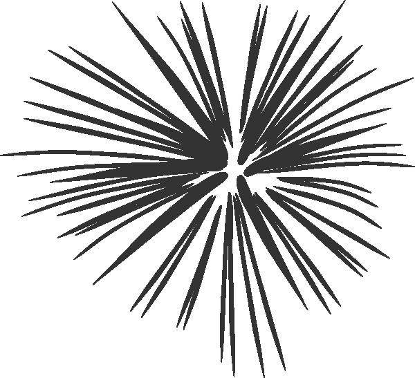 Sparkler clipart black and white.