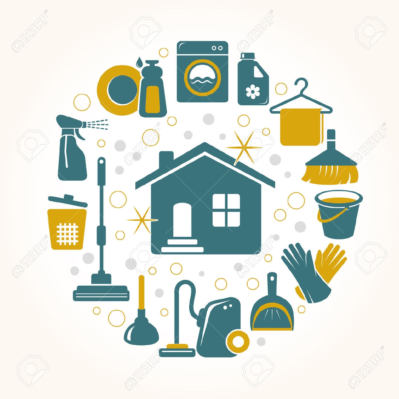 Sparkling Clean House Clipart