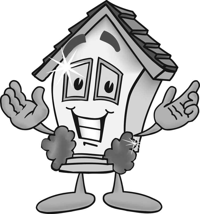 Sparkling Clean House Clipart.