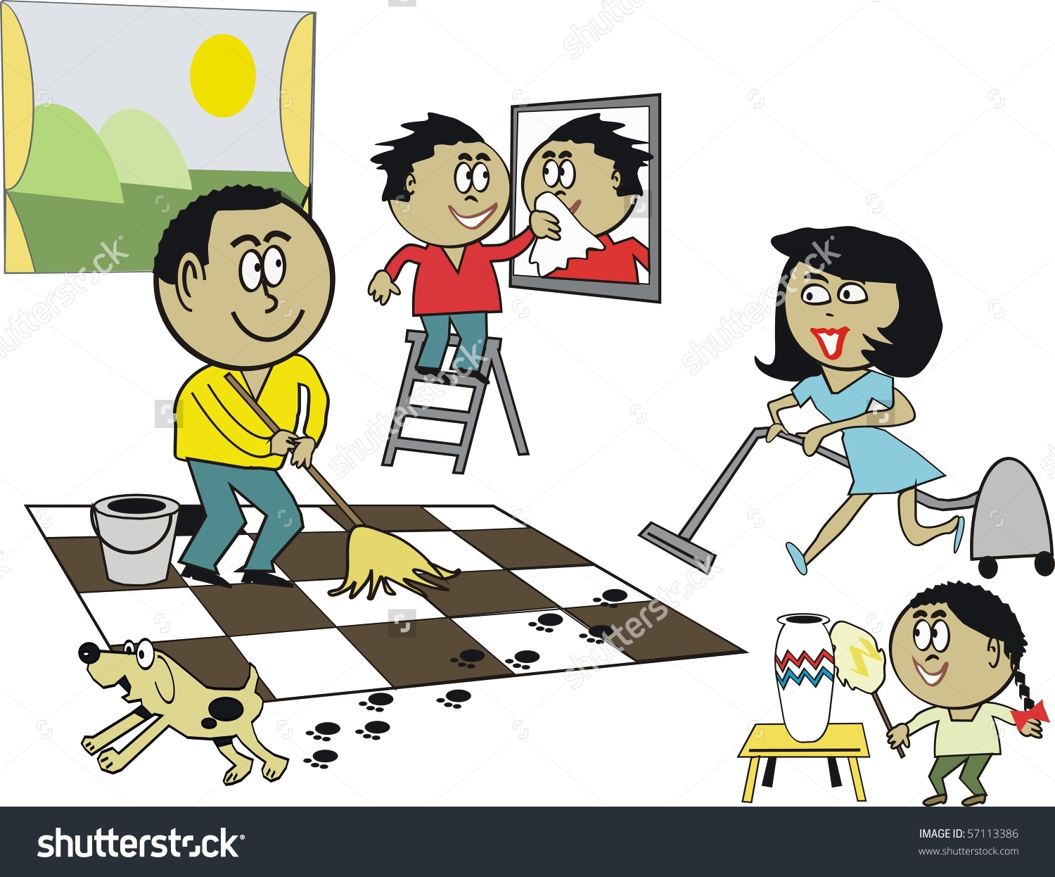 Showing post & media for Sparkling clean floors cartoon.